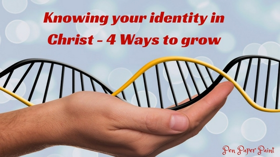 Knowing your identity in Christ - Hand holding DNA represent God knows our identity because he created us according to his blueprint.