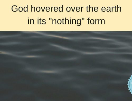 "God Hovers over Us in our ""Nothing"""